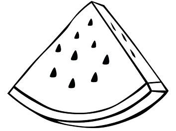 رسمة بطيخ سهلة وجميلة للاطفال للتلوين