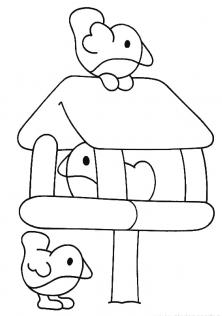 رسومات اطفال سهلة للتلوين عصافير