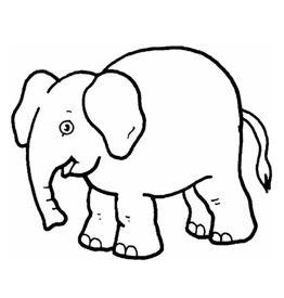 رسومات للتلوين جاهزة للطباعة فيل