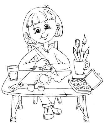 رسمات بنات للتلوين بسيطة