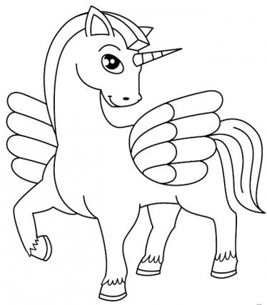 رسومات تلوين اطفال 2020 حصان كرتون
