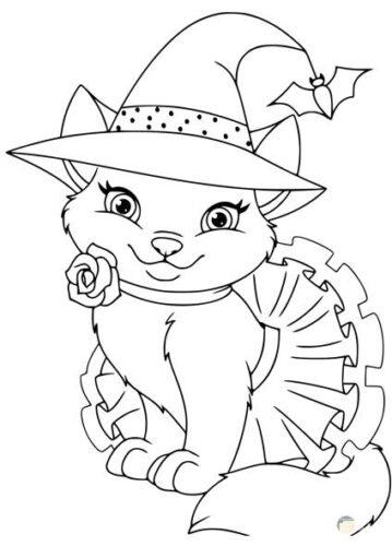 رسومات اطفال بنات قطة كيوت