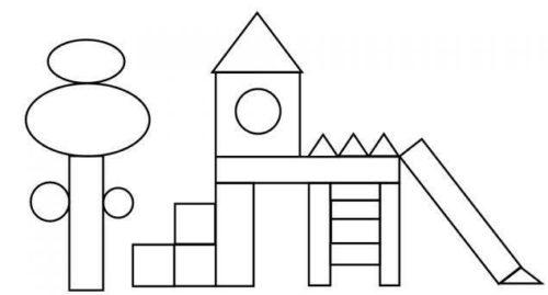 رسمة جميلة للتلوين من الأشكال الهندسية