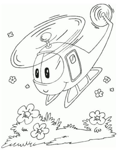 رسومات اطفال بسيطة طائرة هليوكوبتر سهلة للتلوين