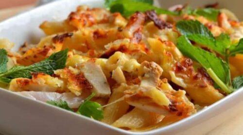 وصفات معكرونة سهلة بالدجاج