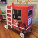 Wagon Fire Truck Paint At Home Mom