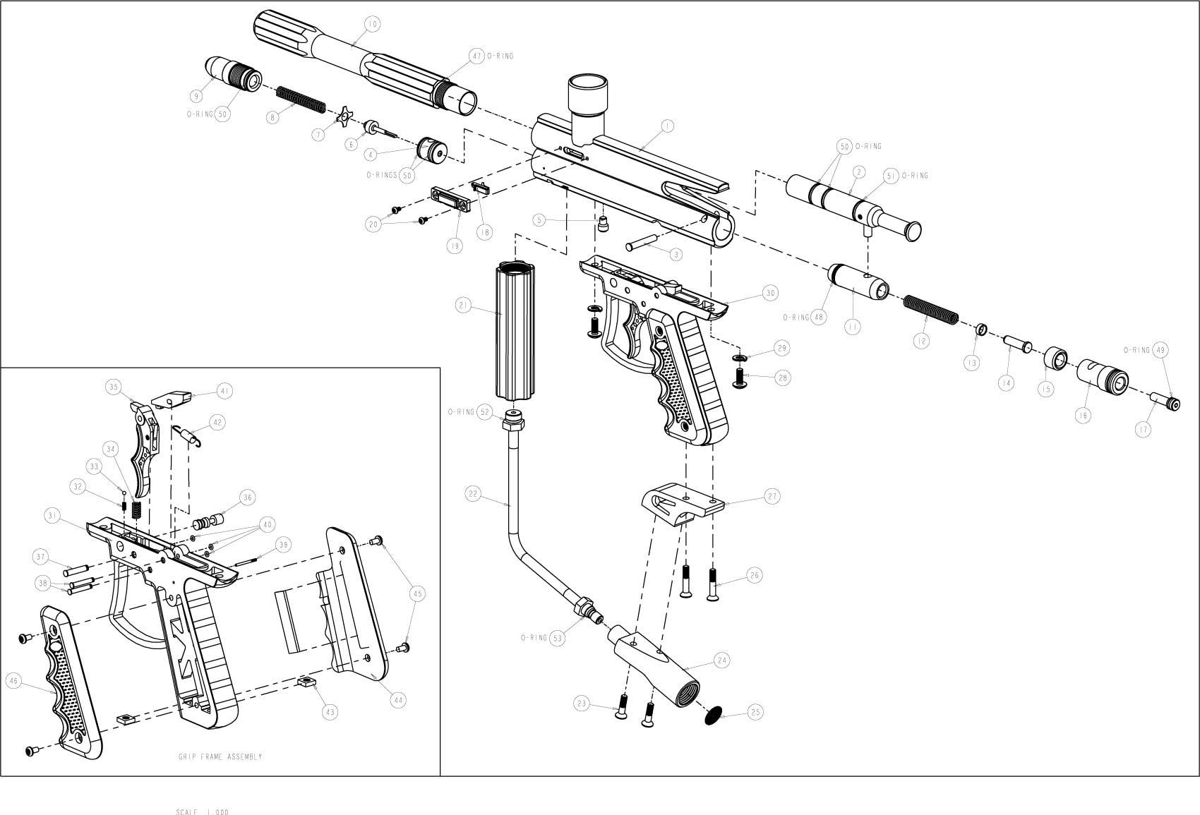 Brass Eagle Avenger 3 Gun Diagram