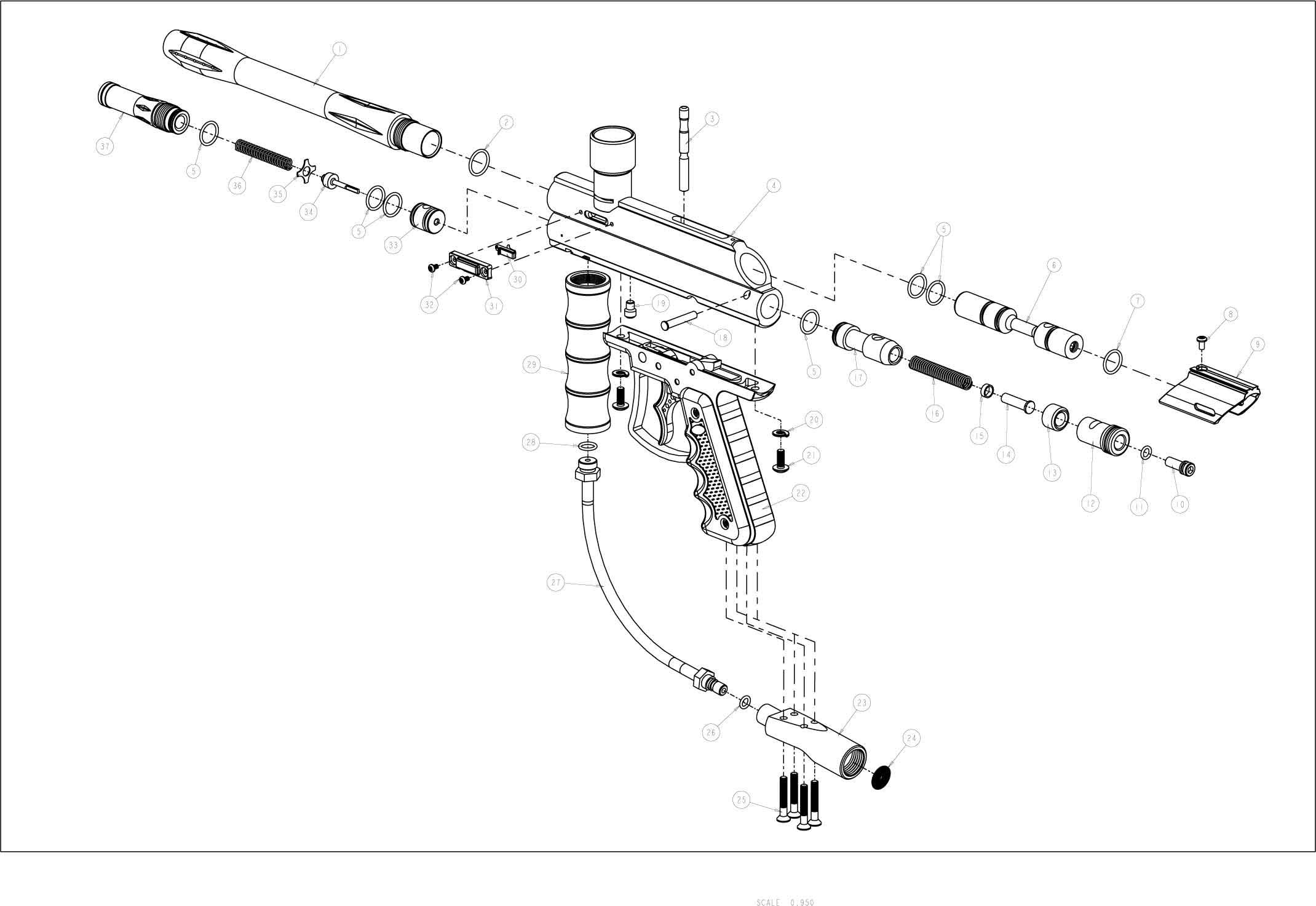 Viewloader Prodigy E Grip Gun Diagram