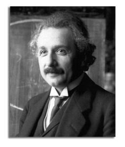 Photoportrait of Albert Einstein.
