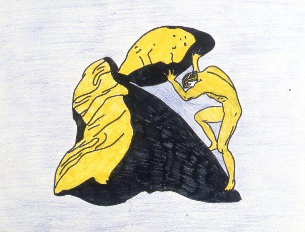 Image of mythical figure, Sisyphus