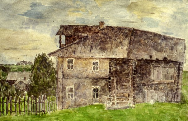 Image of old Russian farmhouse