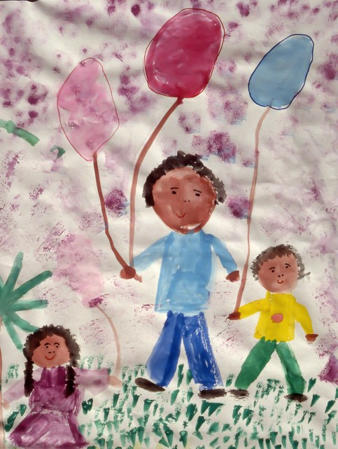 Image of kids holding balloons