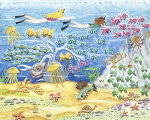 Image of fish and other creatures in an undersea world