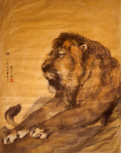 Image of a lion resting
