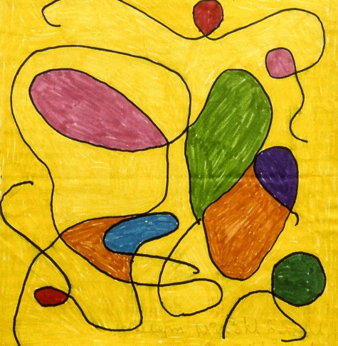 Abstract shapes vaguely resembling balloons