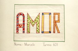 "Decorative image of the word ""Amor"""