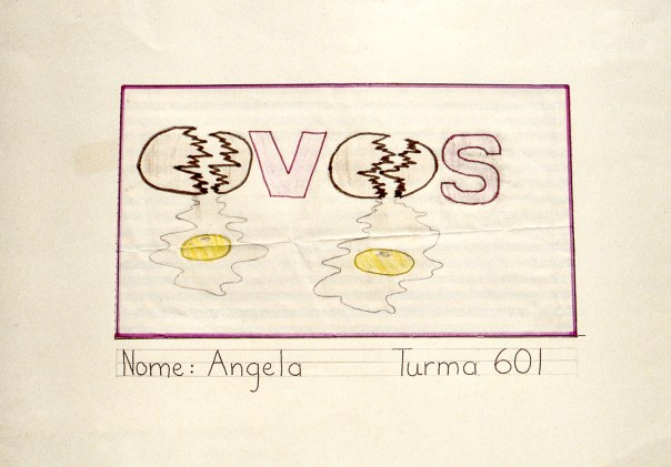 Drawing of two eggs with yolks running out
