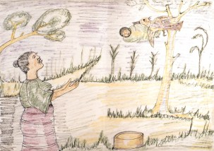 Drawing of traditional folk tale