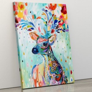 Colorful abstract deer
