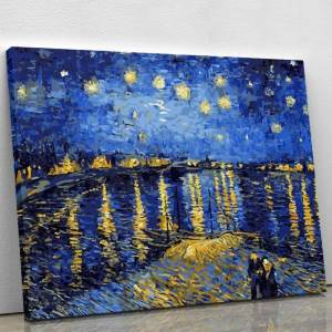 Starry Night Over the Rhone by Vincent van Gogh 1889