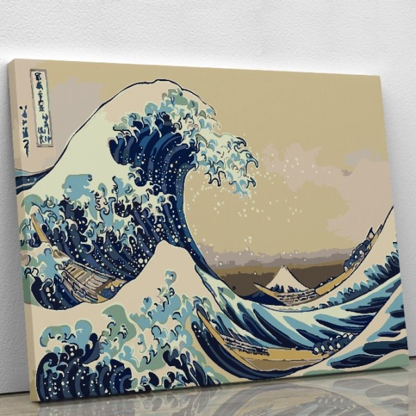 The Great Wave off Kanagawa Paint by numbers Kit