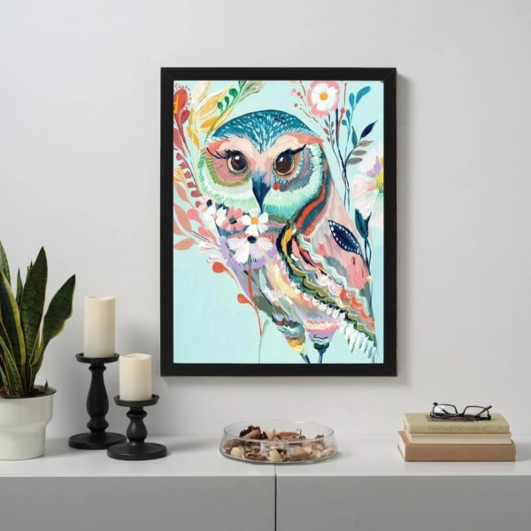 Abstract female owl Paint By Numbers
