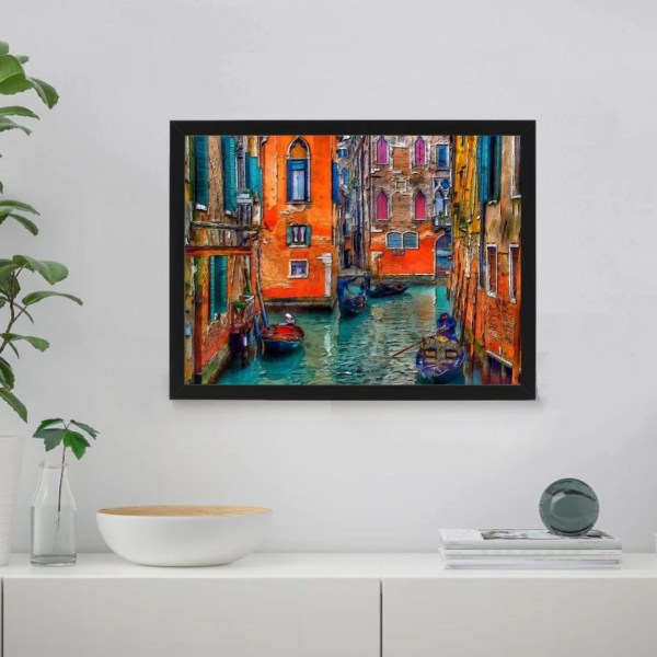 Colourful Canals in Venice Paint By Numbers Kit