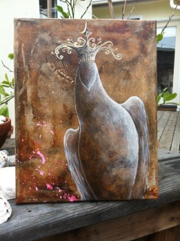 Kingdom by Aprille Lipton - original dove acrylic painting on canvas