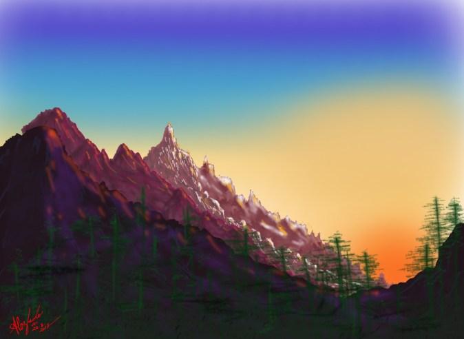 Montagnes ensoleillées_106BB