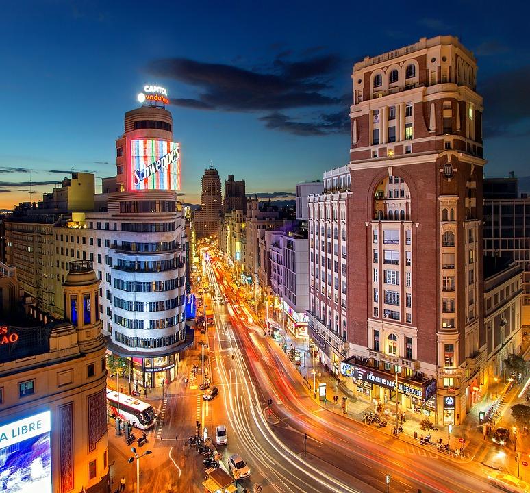 Callao Gran Vía Madrid City Spain Plaza Del Callao