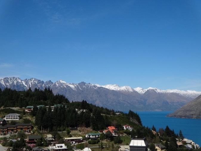 Scene Mountains Queenstown New Zealand