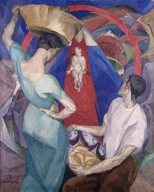 481px-Diego_Rivera,_1912-13,_Adoration_of_the_Virgin_and_Child,_oil_and_encaustic_on_canvas,_150_x_120_cm,_private_collection