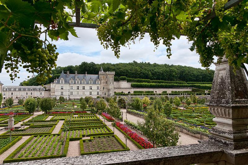800px-Chateau-Villandry-VueGenerale-Jardins