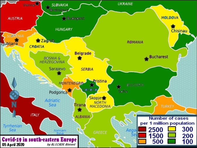 Covid19_South eastern Europe