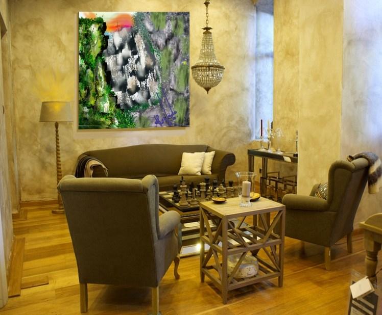 Table Armchair Salon Home Furniture