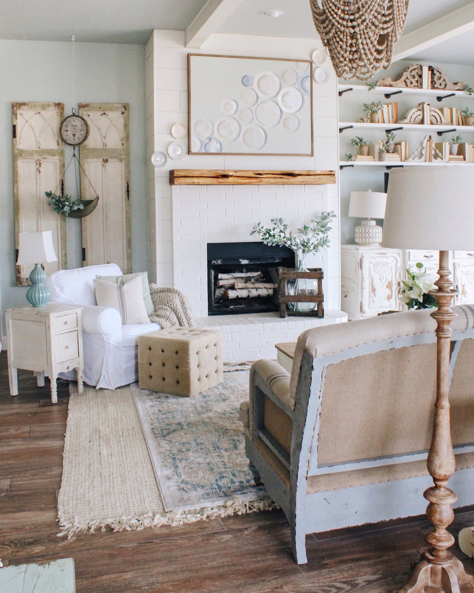 French Farmhouse The Deconstructed Sofa Painted Fox Home