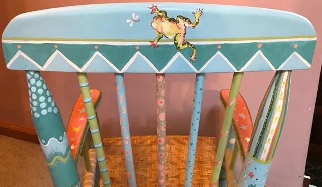 Blue Doodle Children's Rockingchair