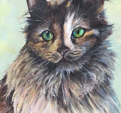 Peaches the Cat Portrait