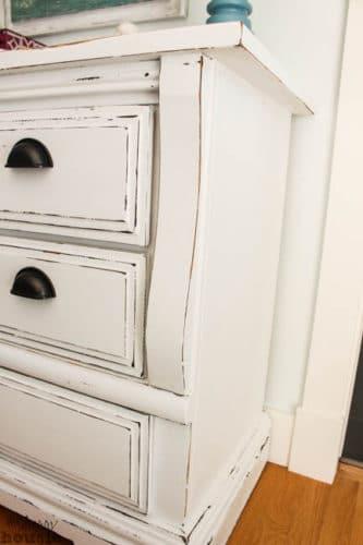 white chalk paint dresser