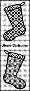 Merry Christmas - Stocking ZT Bookmark
