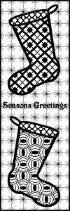 Seasons Greetings - Stocking ZT Bookmark