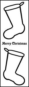 Merry Christmas - Stocking Bookmark .03