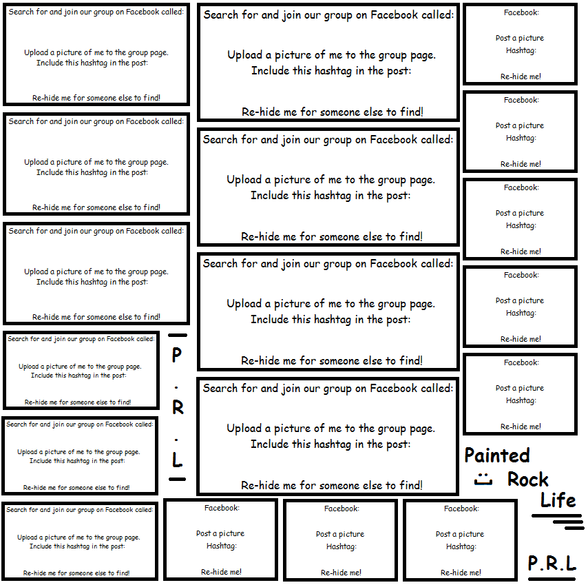 Rock Painting Labels: Printable Sheet