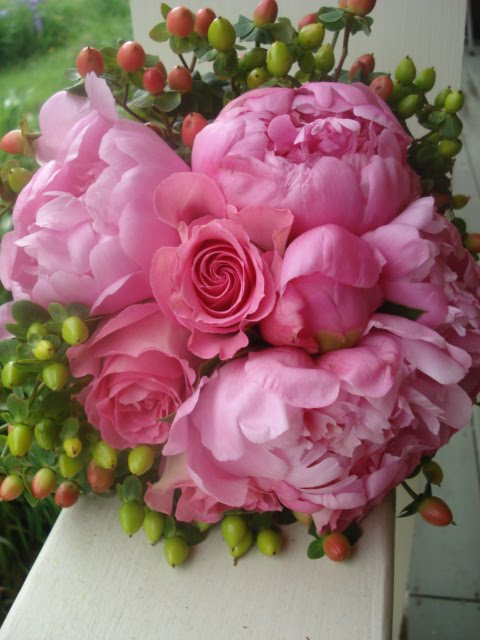 Painted Tulip Wedding Bouquet