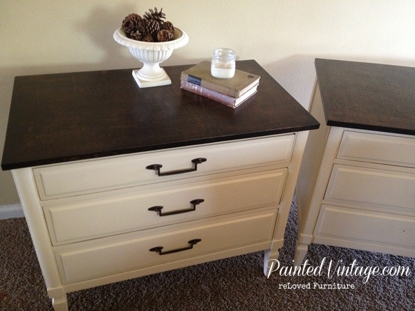 The SW Irish Cream color used on the body of the nightstands is one of ...
