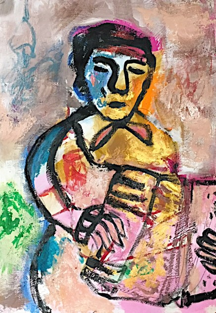 The accordian player 3/ 29,7×42 cm /120€