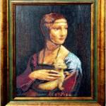 Дама с горностаем, репродукция картины Леонардо да Винчи, 25 цветов, размер вышивки 39 х 49см,вышивка крестом_Катерина Черненко_