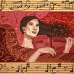 Звуки музыки, 120х100 см, холст, масло, акрил -Валентина Пилипенко
