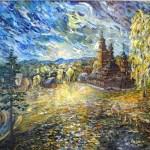 На київських пагорбах, холст, масло, 70х80,-Vinsenta, С.Сычева