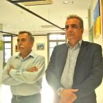 Почетные гости выставки: Президент Греко-украинской торгово-промышленной палаты Тасос Эконому (слева) и Вице-президент Яннис Хатзиэфимиу.